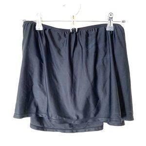 Black Skirt Style Swimsuit Bottoms